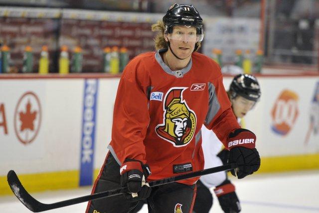 Daniel Alfredsson ne s'inquiète pas de son avenir... (Photo Patrick Woodbury, Le Droit)