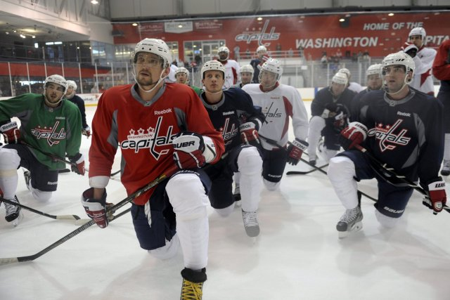 Les Capitals et leur star Alex Ovechkin (à... (Photo Susan Walsh, AP)
