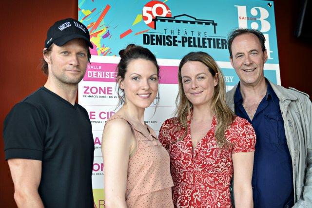 David Boutin, Rachel Graton, Julie Le Breton et... (Photo: Bernard Brault, La Presse)