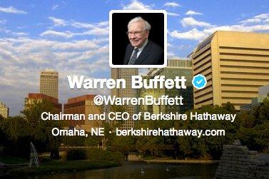 Si le pape est sur Twitter, pourquoi pas le milliardaire d'Omaha?