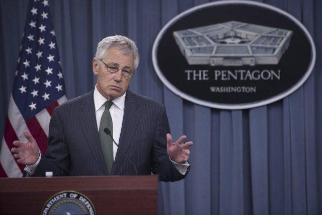 Le secrétaire américain à la Défense, Chuck Hagel.... (Photo Saul Loeb, Agence France-Presse)