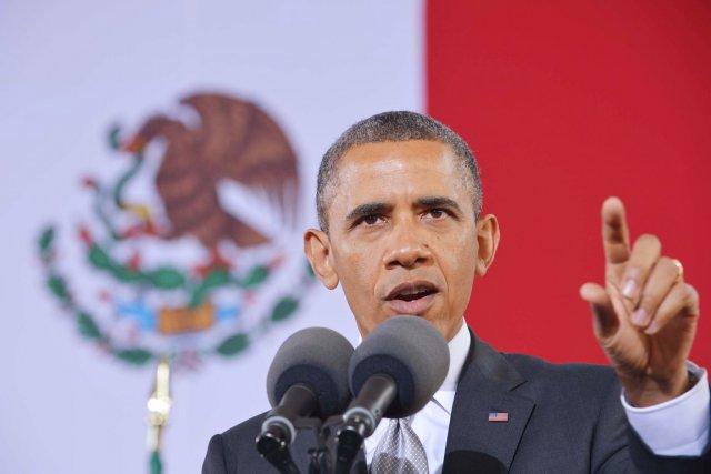 Le président Barack Obama était au Mexique, hier,... (PHOTO MANDEL NGAN, AFP)