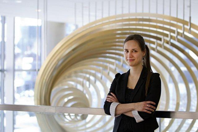 Dina Gilbert vient d'être nommée chef assistante à... (PHOTO ANNE GAUTHIER, LA PRESSE)