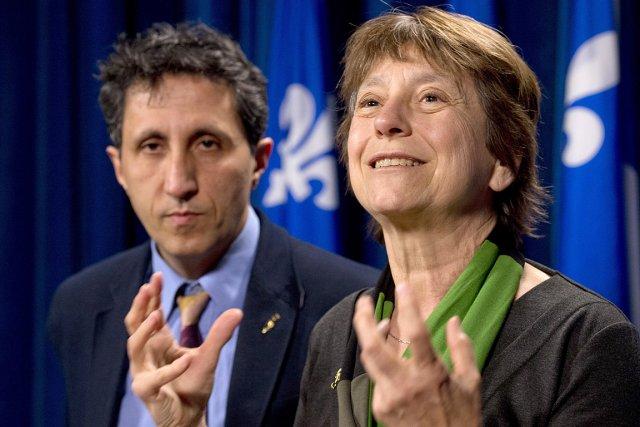 Françoise David et Amir Khadir, les deux députés... (Photo: PC)
