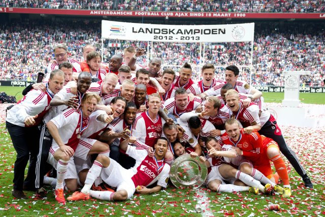 Avec maintenant 32 sacres, l'Ajax détient le record... (Photo : Olaf Kraak, AFP)
