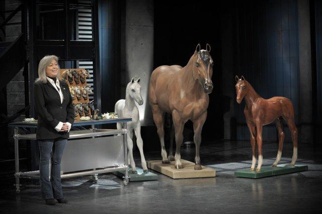 Bernadette Hébert deCréations Bernadetteconçoit des chevaux grandeur nature... (Photo: fournie par Radio-Canada)