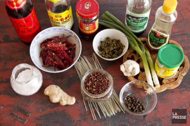 Le garde-manger chinois de base.... (Photo David Boily, La Presse)
