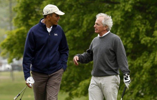 Le président Barack Obama et le sénateurdu Tenessee... (Photo KEVIN LAMARQUE, Reuters)