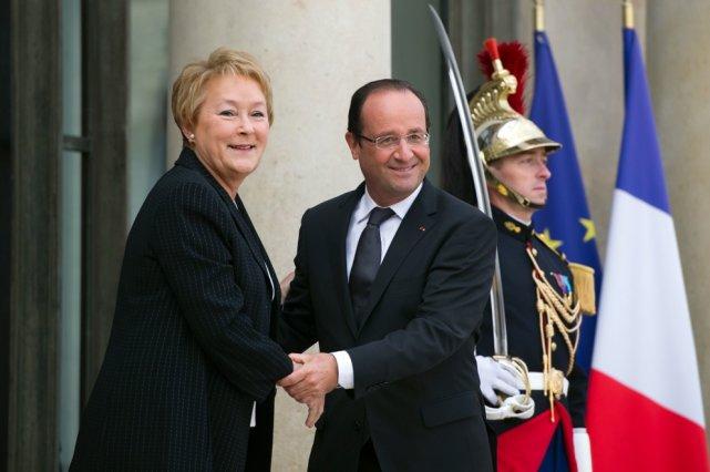 Le président français François Hollande a reçu la... (Photo Bertrand Langlois, Agence France-Presse)