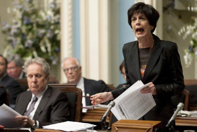 L'ex-ministre Michelle Courchesne avait essuyé de vives critiques... (Photo: PC)