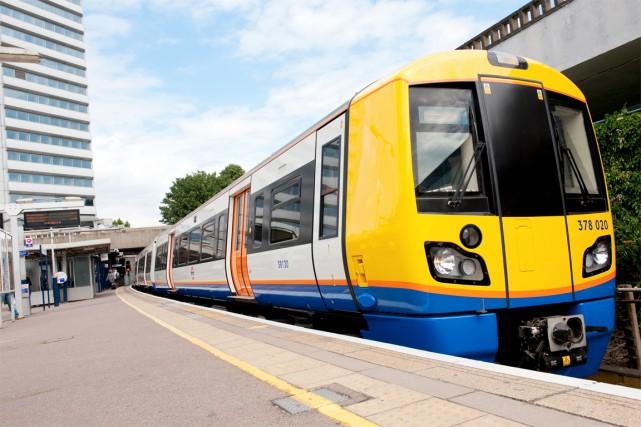 Un train Electrostar de Bombardier à Londres.... (Photo fournie par Bombardier)