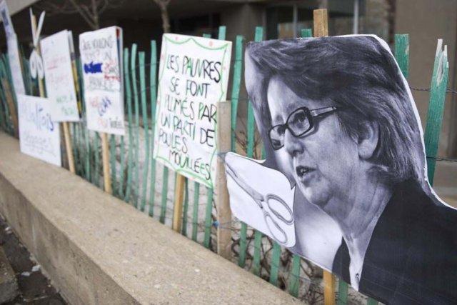 Des manifestations contre la réforme à l'aide sociale... (Photo La Presse)