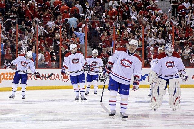 Les joueurs du Canadien ont quitté la patinoire... (Photo Sean Kilpatrick, PC)