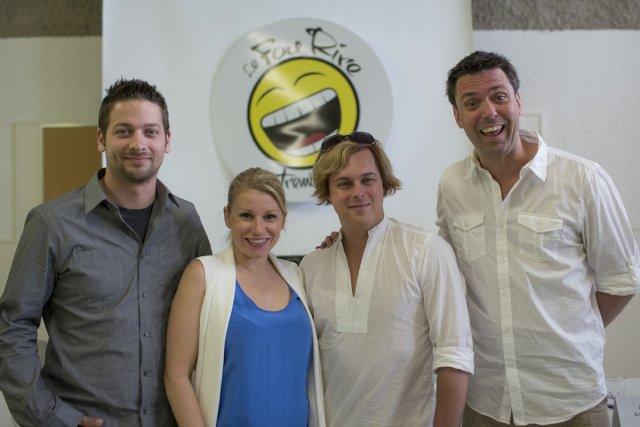 Patrick Jutras, Cathy Gauthier, Alex Perron et Jean-Marie... (Photo: Olivier Pontbriand, La Presse)