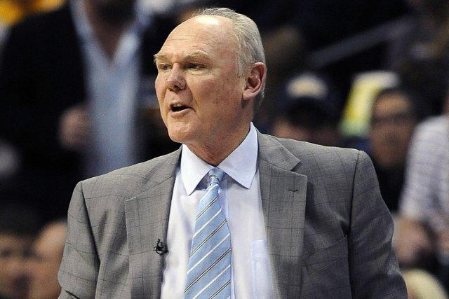 L'entraîneur des Nuggets de Denver, George Karl.... (Photo Chris Schneider, AP)