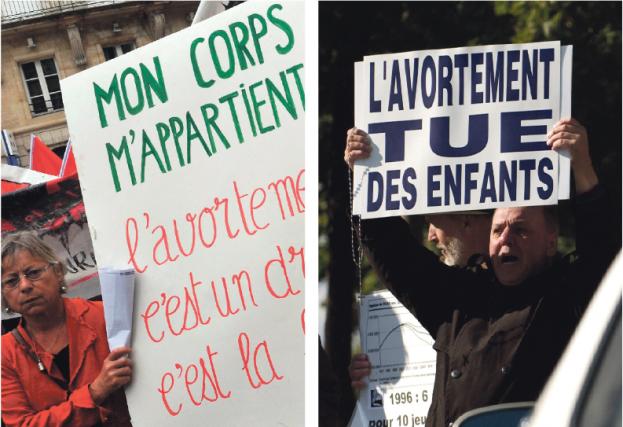 Il y a une éternité que les pro-vie... (Photos Pierre Andrieu, Agence France-Presse et Robert Skinner, La Presse)