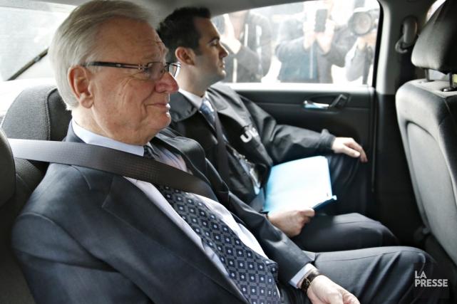 Gilles Vaillancourt lors de son arrestation.... (Photo David Boily, La Presse)