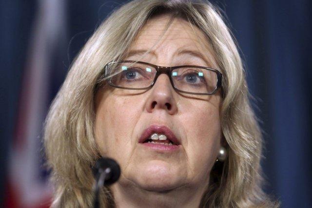 La chef du Parti vert, Elizabeth May... (PHOTO: FRED CHARTRAND, CP)