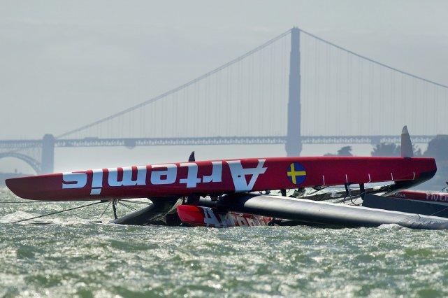 Le marin britannique Andrew Simpson, double médaillé olympique de voile est... (Photo Noah Berger, AP)