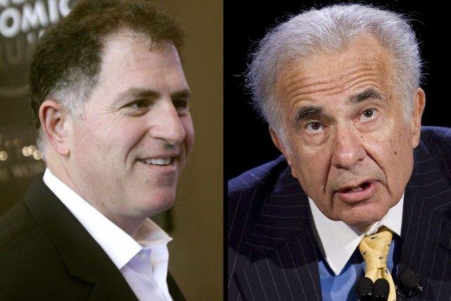 Le fondateur de Dell, Michael Dell, et l'investisseur... (Photo Associated Press)