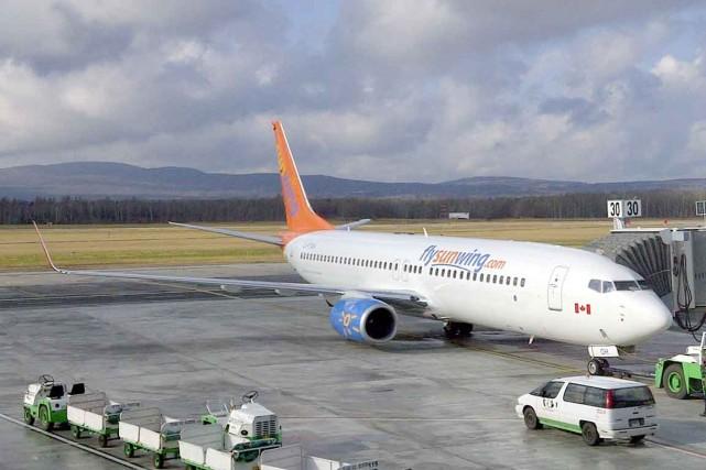 Un avion de Sunwing Airlines qui se rendait dans la ville de Panama depuis... (Photo d'archives)