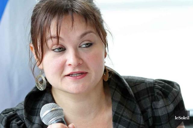 La députée néo-démocrate de Québec Annick Papillon... (Photothèque Le Soleil,  Jocelyn Bernier)
