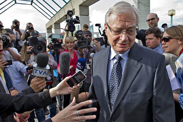 Gilles Vaillancourt, le jour de son arrestation.... (Photo: Patrick Sanfaçon, La Presse)