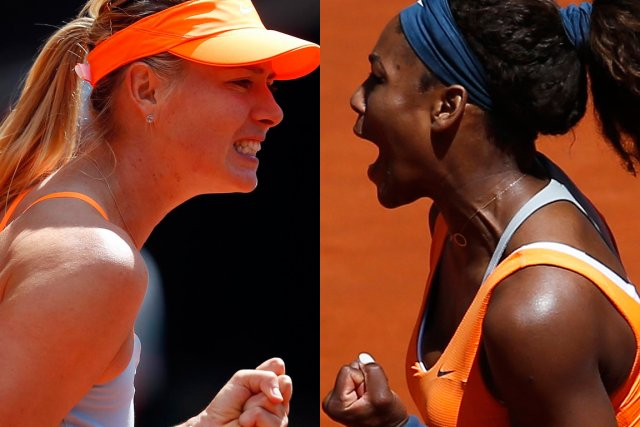 Le duel entre Maria Sharapova et Serena Williams... (Photos : Reuters)