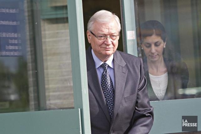 Gilles Vaillancourt, le jour de son arrestation.... (Patrick Sanfacon)