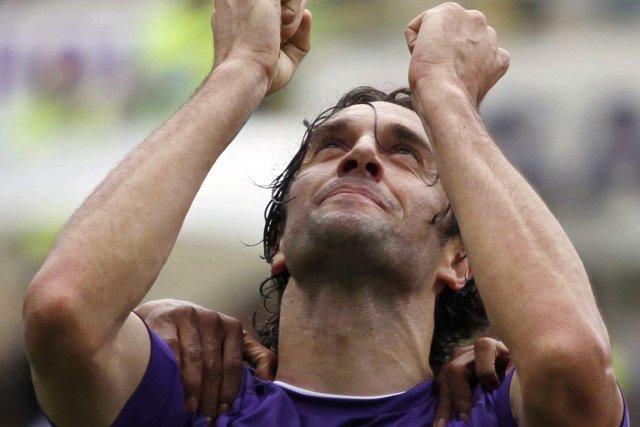 Luca Toni, de Fiorentina, a inscrit le seul... (Photo : Matteo Bovo, AP)