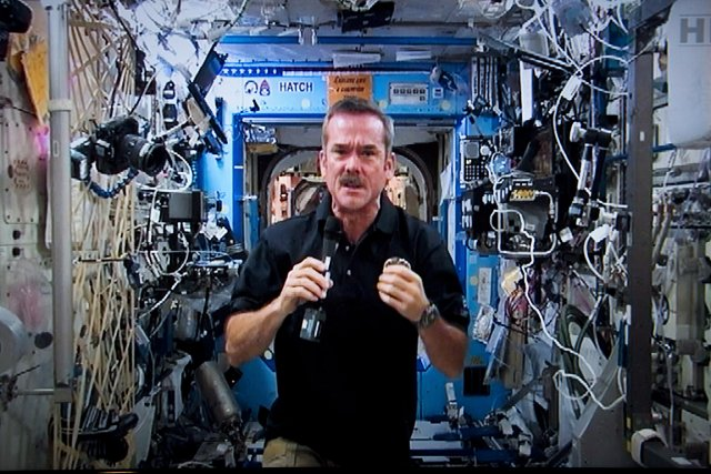 L'astronaute canadien Chris Hadfield, à bord de l'ISS.... (Photo: PC)