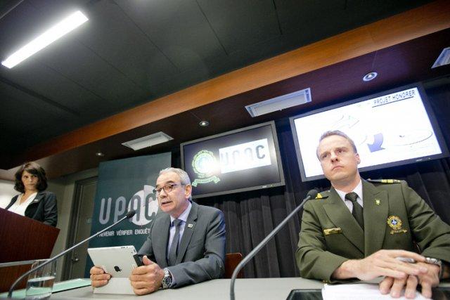 En conférence de presse, jeudi, le grand patron... (Photo: Marco Campanozzi, La Presse)