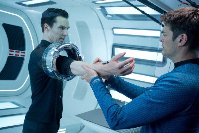 Zachary Quinto en Spock, Chris Pine en Kirk, Karl Urban en McCoy: ils étaient... (Photo: fournie par Paramount Pictures)