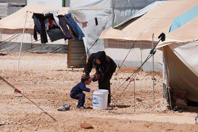 Des réfugiés syriens dans un camp en Jordanie.... (Photo: AP)