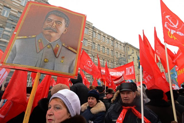Lors d'une manifestation du parti communiste russe le... (Photo Kirill Kudryavtsev, AFP)
