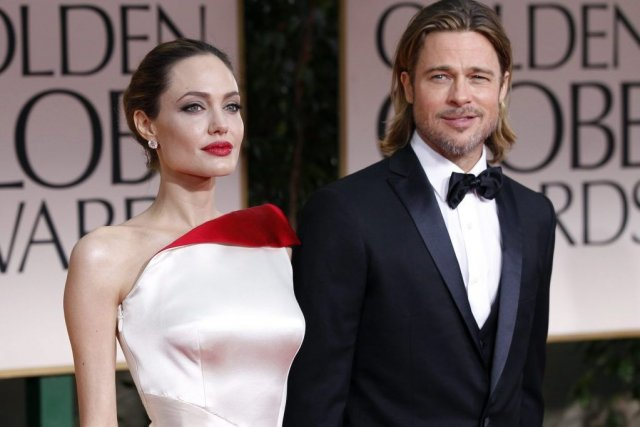 Angelina Jolie et Brad Pitt au 69e gala... (Photo Reuters)