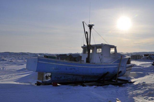 En mai, l'hiver n'a pas encore dit son dernier mot à Iqaluit, la... (Photo Stéphanie Morin, La Presse)