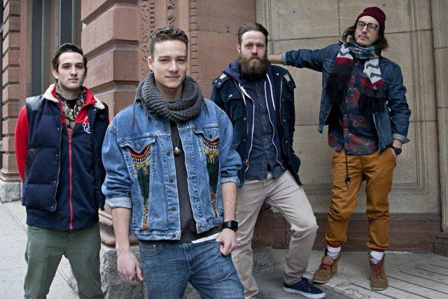 Les quatre artistes de l'agence LNDMRK, Alexis Froissart,... (Photo: Anne Gauthier, La Presse)