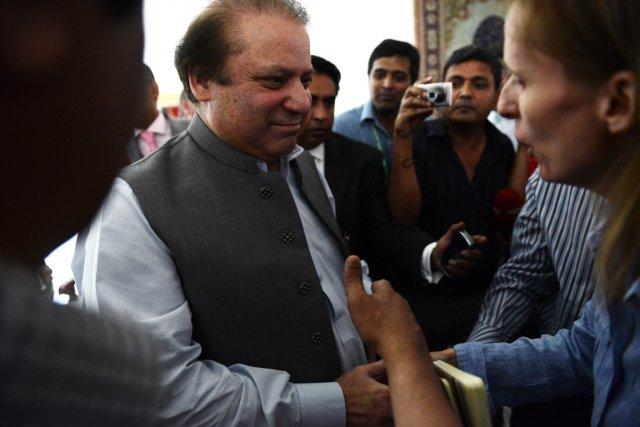 Le premier ministre nouvellement élu du Pakistan, Nawaz... (Photo Roberto Schmidt, Agence France-Presse)