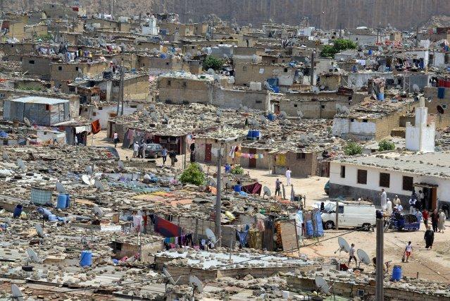 Le bidonville de Sidi Moumen, à Casablanca.... (Photo Fadel Senna, Agence France-Presse)