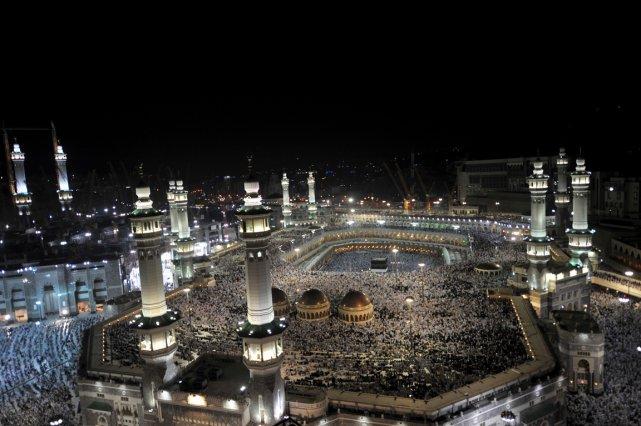 La Mecque, prière devant la Grande Mosquée... (PHOTO FAYEZ NURELDINE, AFP)
