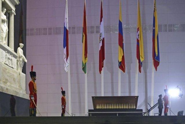 Le président vénézuélienNicolas Maduro a profité del'inauguration du... (PHOTO JUAN BARRETO, AFP)