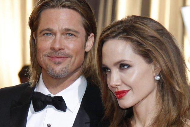Brad Pitt et Angelina Jolie aux Oscars.... (Photo: archives AFP)