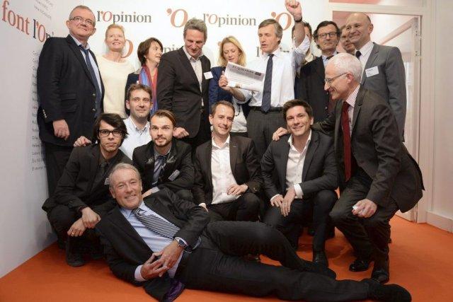 L'équipe de L'Opinion... (Photo: AFP)