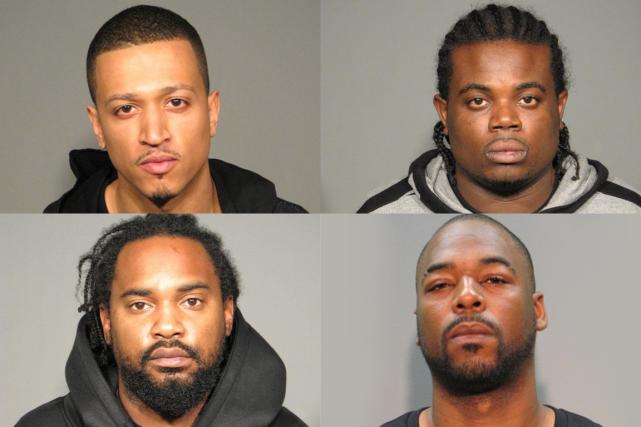 Les quatre suspects (de gauche à droite, de...