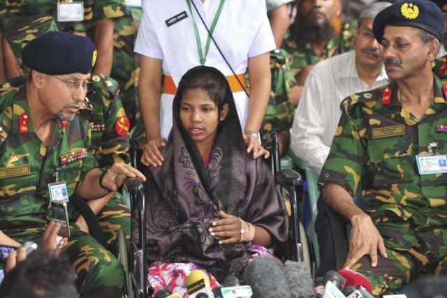 Reshma Begum (au centre)... (Photo Khurshed Rinku, Reuters)