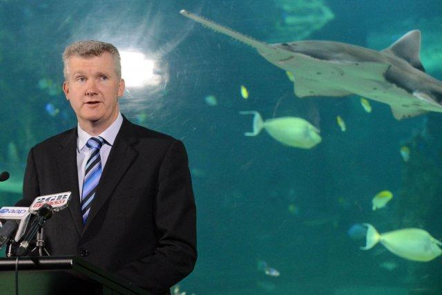 Tony Burke, le ministre de l'environnement de l'Australie.... (PHOTO ROSLAN RAHMAN, AFP)