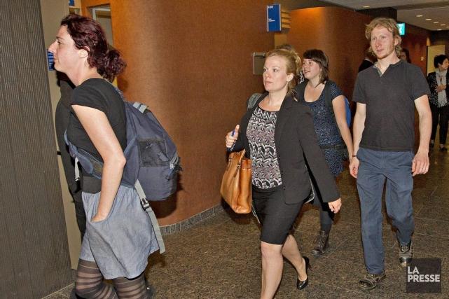 Geneviève Vaillancourt, une des avocates du groupe Me... (Photo Patrick Sanfaçon, La Presse)
