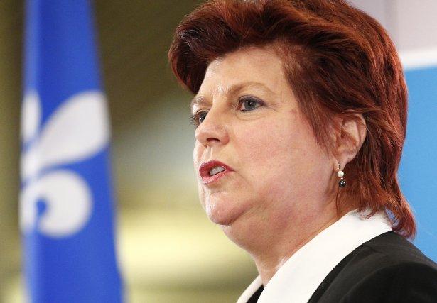 La ministre de la Famille, Nicole Léger.... (Photo Yan Doublet, Focus1)