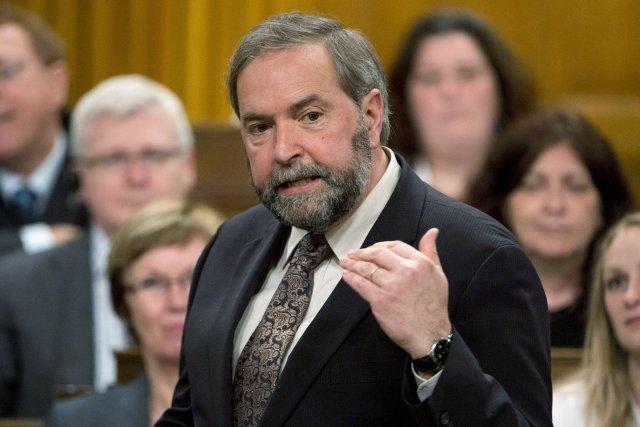 Thomas Mulcair... (Photo Adrian Wyld, La Presse Canadienne)